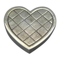 Heart Silver-Plated Pill Box