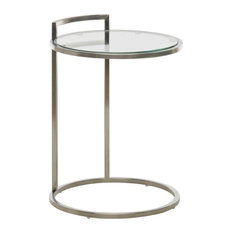 Meadow Stainless Steel Round Side Table