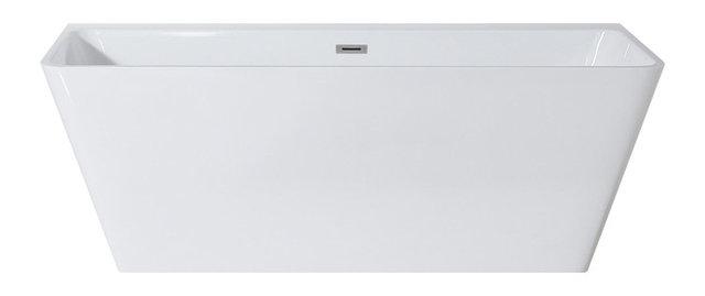 rectangular freestanding soaking tub. Fortuna White Rectangular Freestanding Soaking Tub