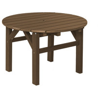 Wildridge Classic Recycled Plastic 33inch Occasional Table, Tudor Brown on Black