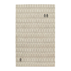 Genevieve Gorder Twigs Rectangular Hand-Tufted Rug, Beige, 8'x10'