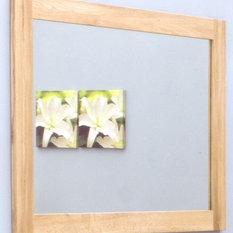 baumhaus mobel oak medium wall mirror wall mirrors baumhaus mobel solid oak medium wall mirror