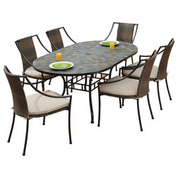 Luxury Tropical Outdoor Dining Sets by Home Styles Furniture