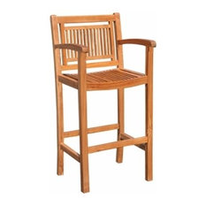 Teak Maldives Barstool With Arms