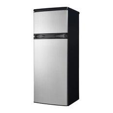 Apartment Size Refrigerator, Black/Platinum
