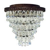 The Weston 7-Light Flush Mount Glass Drop Chandelier