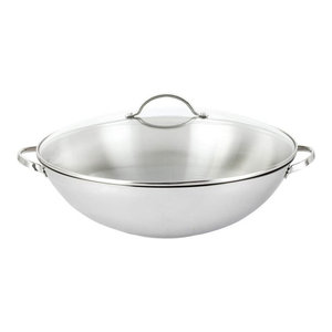 Cooks Standard Multi Ply Clad Stainless Steel 13 Quot Wok With
