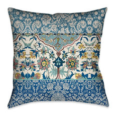 Laural Home Royal Blue Bohemian Tapestry Indoor Decorative Pillow