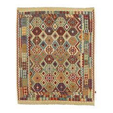 "Kelim Afghan Rug Oriental Rug 8'3""x6'8"" Hand-Woven Classic"