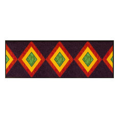 Easy Clean Colourful Diamonds Doormat, Large
