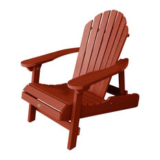 Hamilton Folding and Reclining Adirondack Chair, Rustic Red