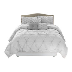 Luxeria Home - Chateau Collection 7-Piece Comforter Set, Full/Queen - Comforters and Comforter Sets