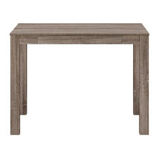 Ameriwood Home Parsons Desk With Drawer, Distressed Gray Oak