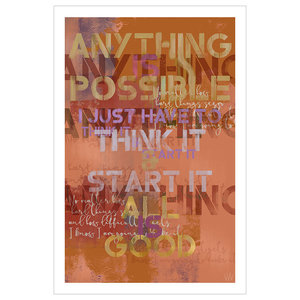 Anything Is Possible Fine Art Giclée Print, Red, 61x91cm