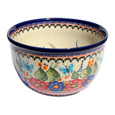 Polish Pottery Mixing Bowl, Pattern Number: 149ar