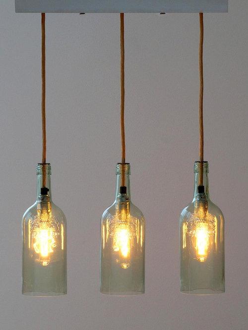vintage flaschenlampe h ngelampe lampada cinque. Black Bedroom Furniture Sets. Home Design Ideas