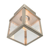 Modern Square Outdoor Ceiling Lamp 1 Steel - Rotterdam