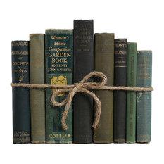8-Piece Vintage Book Gift Set, Gardening, Green