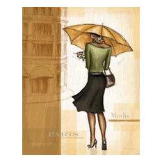 Golden Rain Paris by Andrea Laliberte Canvas Print