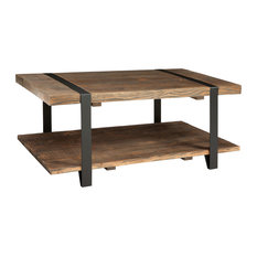 wood-top metal coffee tables | houzz