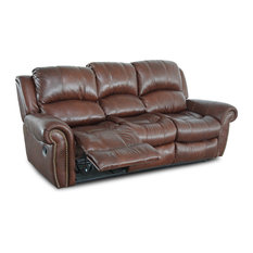 Attrayant Myco Furniture   Gretna, Burgundy Leather Air Recliner Sofa   Sofas