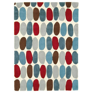Matrix Sofia MAX33 Rug, Red and Teal, 160x230 cm