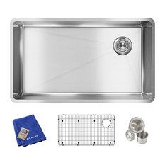 "ECTRU30179RTC Crosstown Stainless Steel 31-1/2"" x 18-1/2"" Undermount Sink Kit"