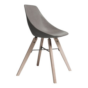 Hauteville Concrete Chair With Plywood Legs