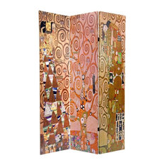 Oriental Furniture   Double Sided Room Divider With Stoclet Frieze Pattern    Screens And Room Dividers
