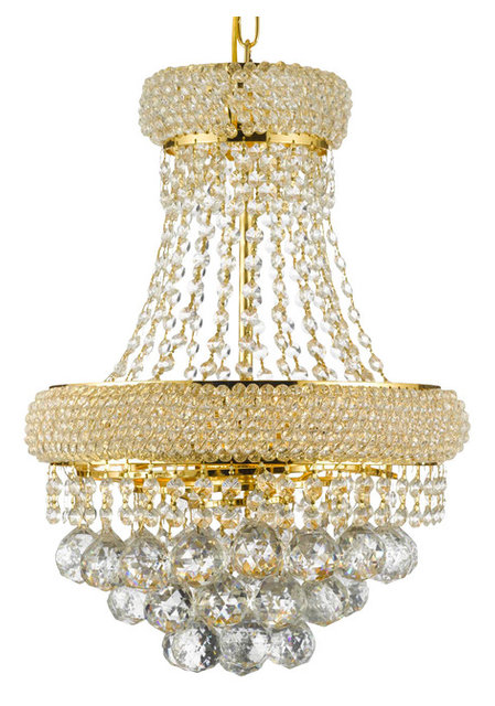 3 Light French Empire Crystal Chandelier Chandelier Gold, ...