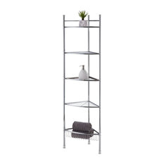 5-Tier Chrome Plated Corner Shelvings