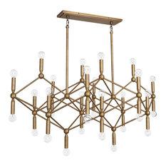 Jonathan Adler Milano Chandelier, Warm Brass
