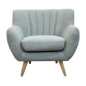 Lilly 1-Seater Lounge Chair, Light Grey