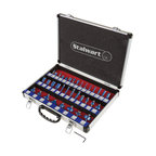 Router Bit Set With 1/4 Shank and Aluminum Case, 35-Piece Set By Stalwart