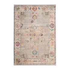 Safavieh Illusion Collection ILL708 Rug, Light Grey/Cream, 9'x12'