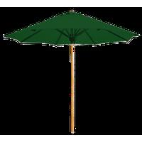 Atlantic 9' Round Umbrella - Natural, Forest Green