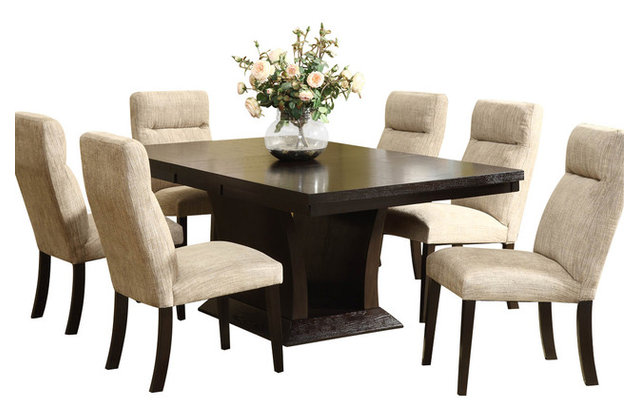 Delicieux Homelegance Avery 7 Piece Pedestal Dining Room Set In Espresso
