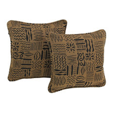 "18"" Tapestry Square Throw Pillow Inserts, Set of 2, Kenya"