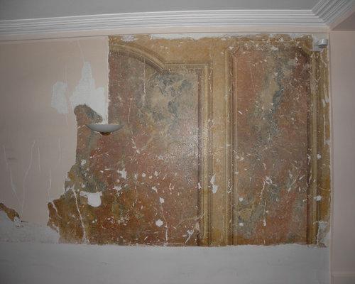 Restitution d\'un décor en faux marbre - stuc-marbre . Peinture ...