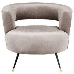 Manet Velvet Retro Mid-Century Accent Chair, Hazelwood