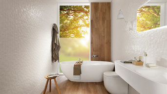 Introducing our Trends porcelain tile range to a bathroom