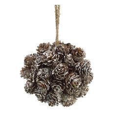 silk plants direct winter mini pine cone ornaments pack of 6 christmas ornaments - Rustic Christmas Ornaments
