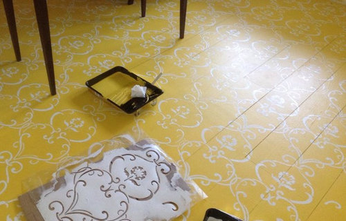 Would You Paint And Stencil A Wood Floor