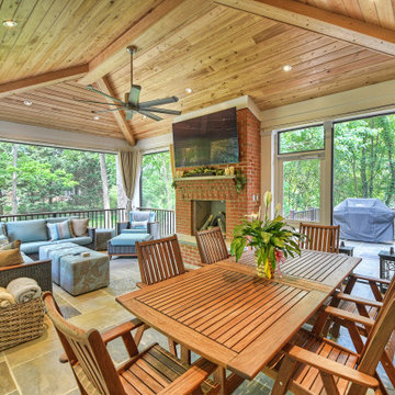 Covered porch oasis