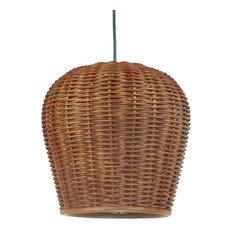 50 most popular tropical pendant lights for 2018 houzz kouboo handwoven wicker pod pendant light diameter 115 x 125 inch rustic brown aloadofball Gallery