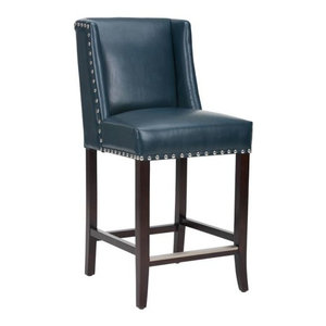 Astounding Austria Navy Linen Barstool Transitional Bar Stools And Unemploymentrelief Wooden Chair Designs For Living Room Unemploymentrelieforg