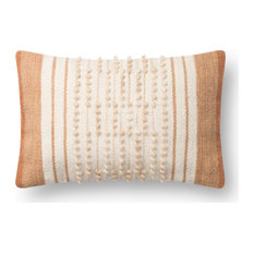Ellen DeGeneres Crafted by Loloi Rust/Natural Pillow