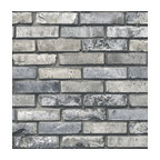 Painted Brick Gray Gray Brick Wallpaper Bolt