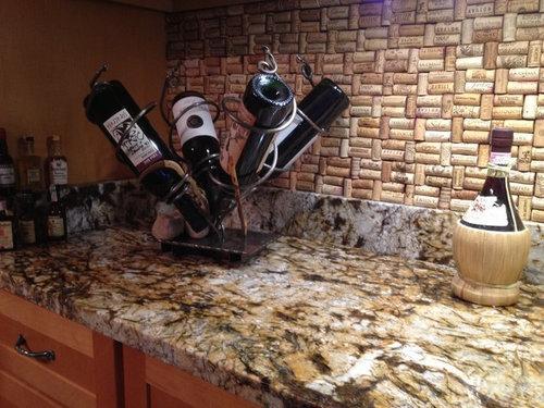 How To Make Wine Cork Backsplash