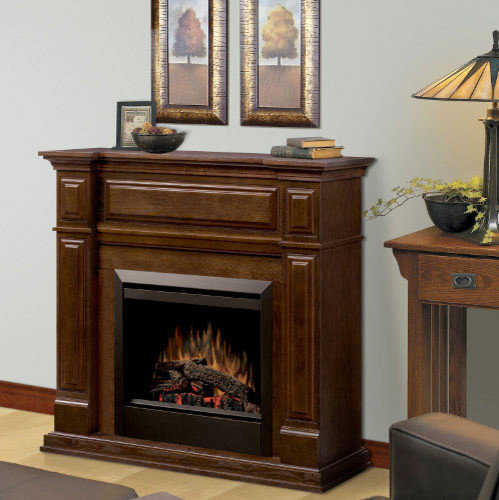 Dimplex - Trenton Mocha Electric Fireplace Mantel Package - GDS23-MA1051 -  Indoor Fireplaces - Electric Fireplace Mantel Packages